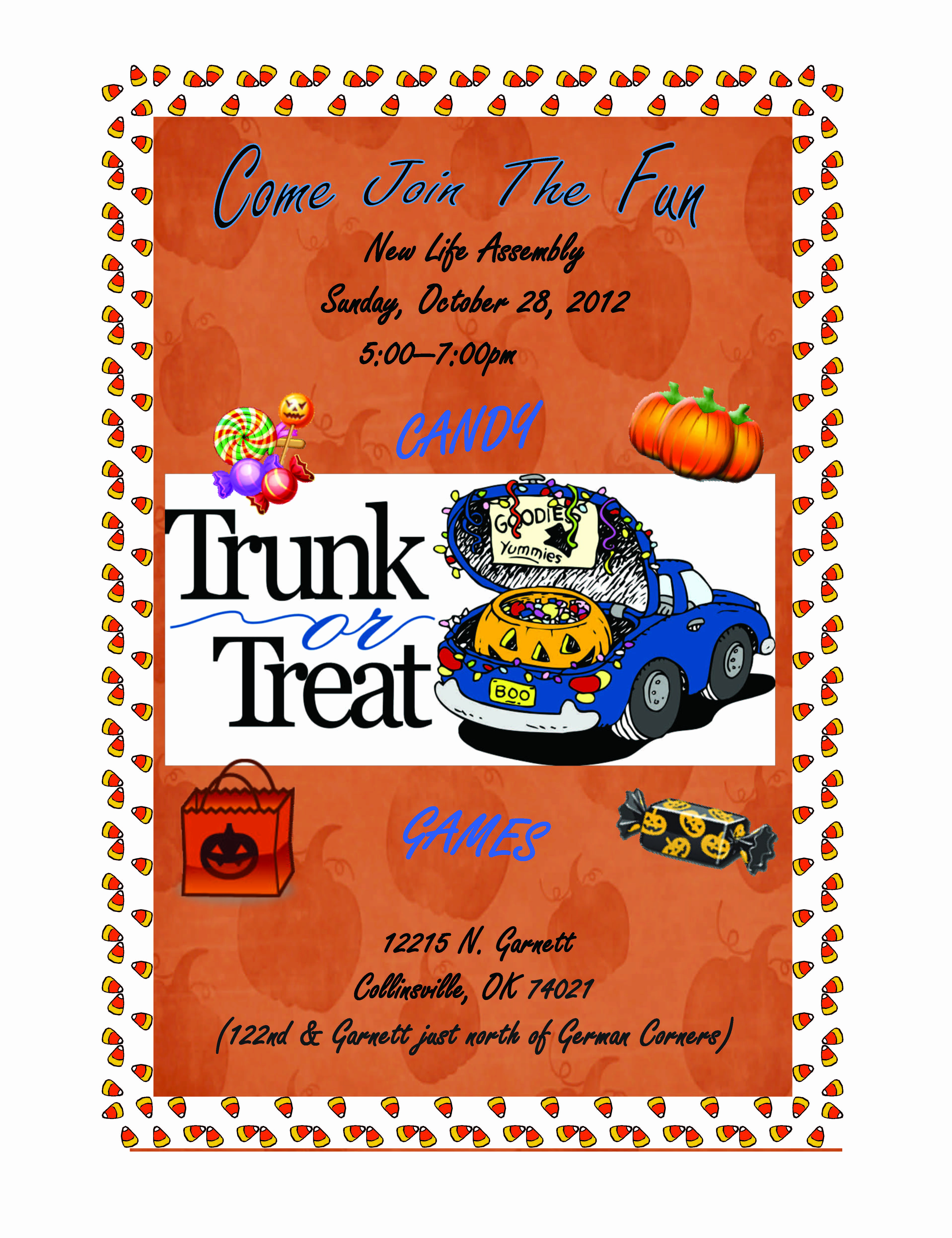 Trunk Party Invitation Templates New Trunk or Treat Fall Festival