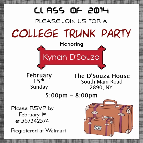Trunk Party Invitation Wording Elegant Insanely Good Ideas to Throw the Perfect College Trunk Party