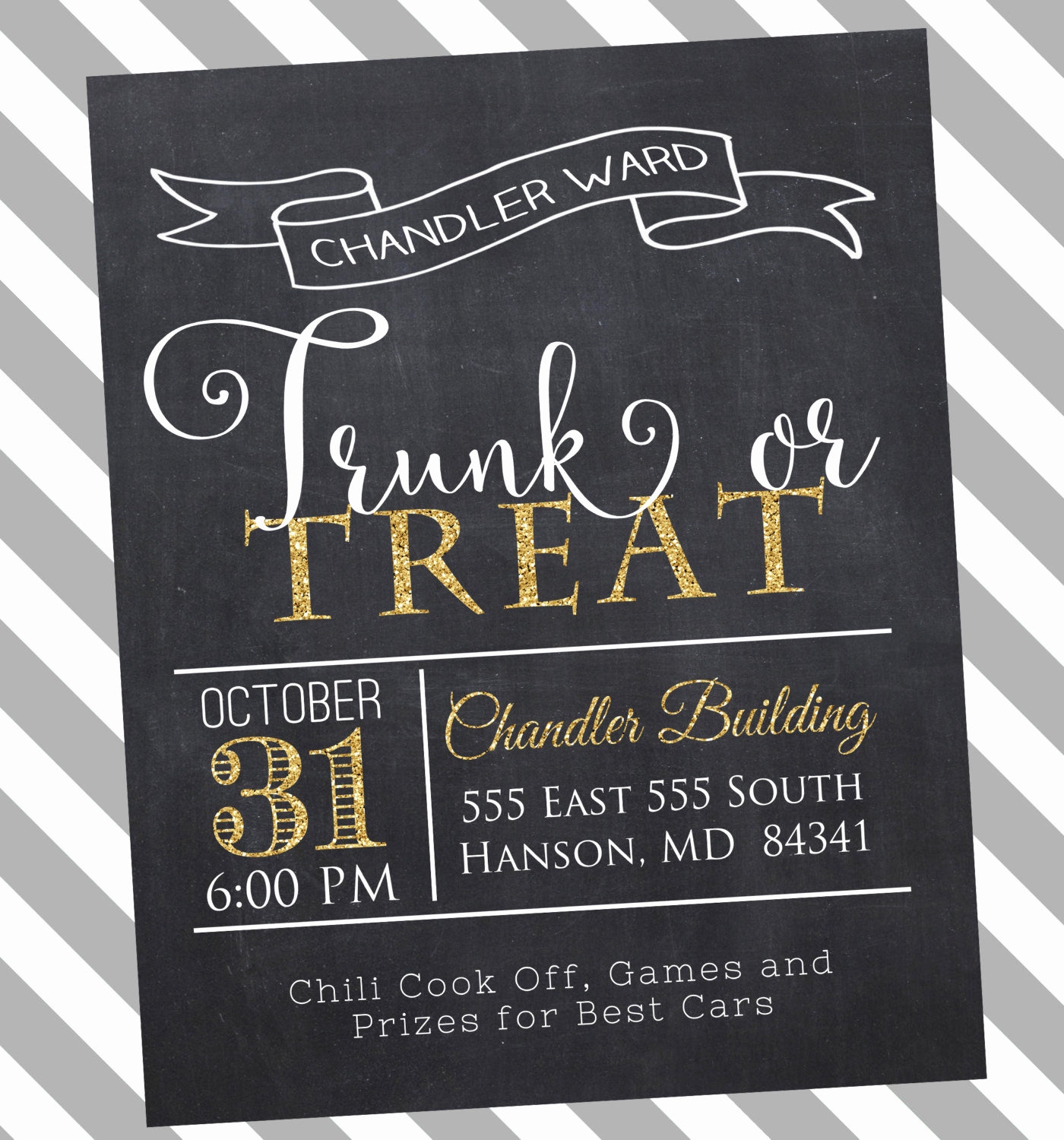 Trunk Party Invitation Wording Fresh Trunk or Treat Halloween Invitation Ward Party Invitation