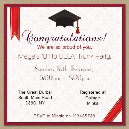 Trunk Party Invitation Wording Lovely Insanely Good Ideas to Throw the Perfect College Trunk