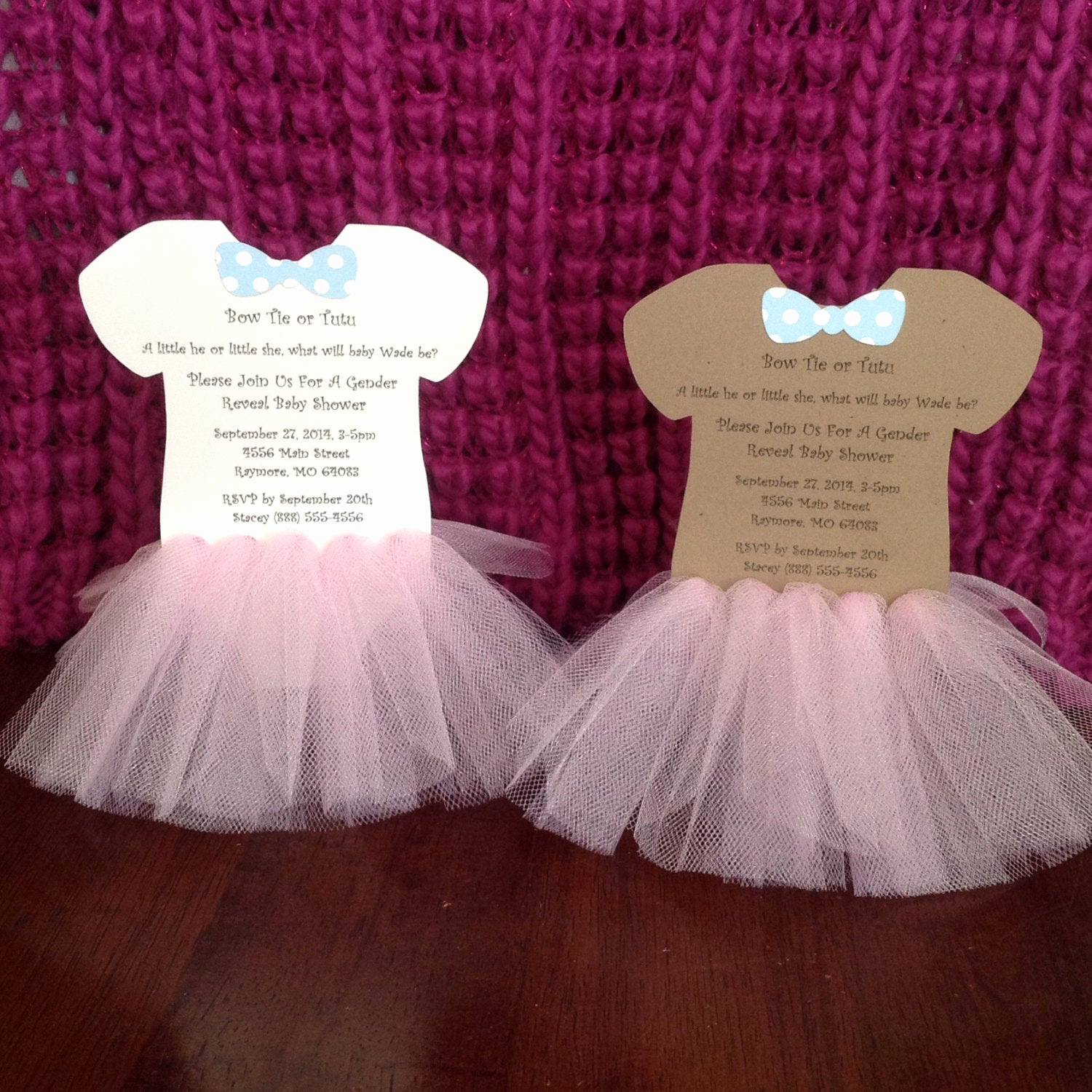Tutu Baby Shower Invitation Beautiful Bow Ties or Tutus Baby Shower or Birthday by