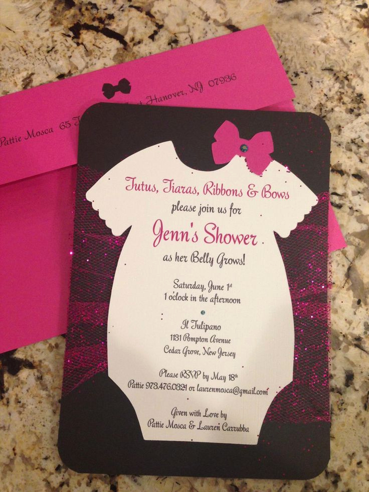 Tutu Baby Shower Invitation Beautiful Tutu themed Baby Shower Invitations – Party Xyz