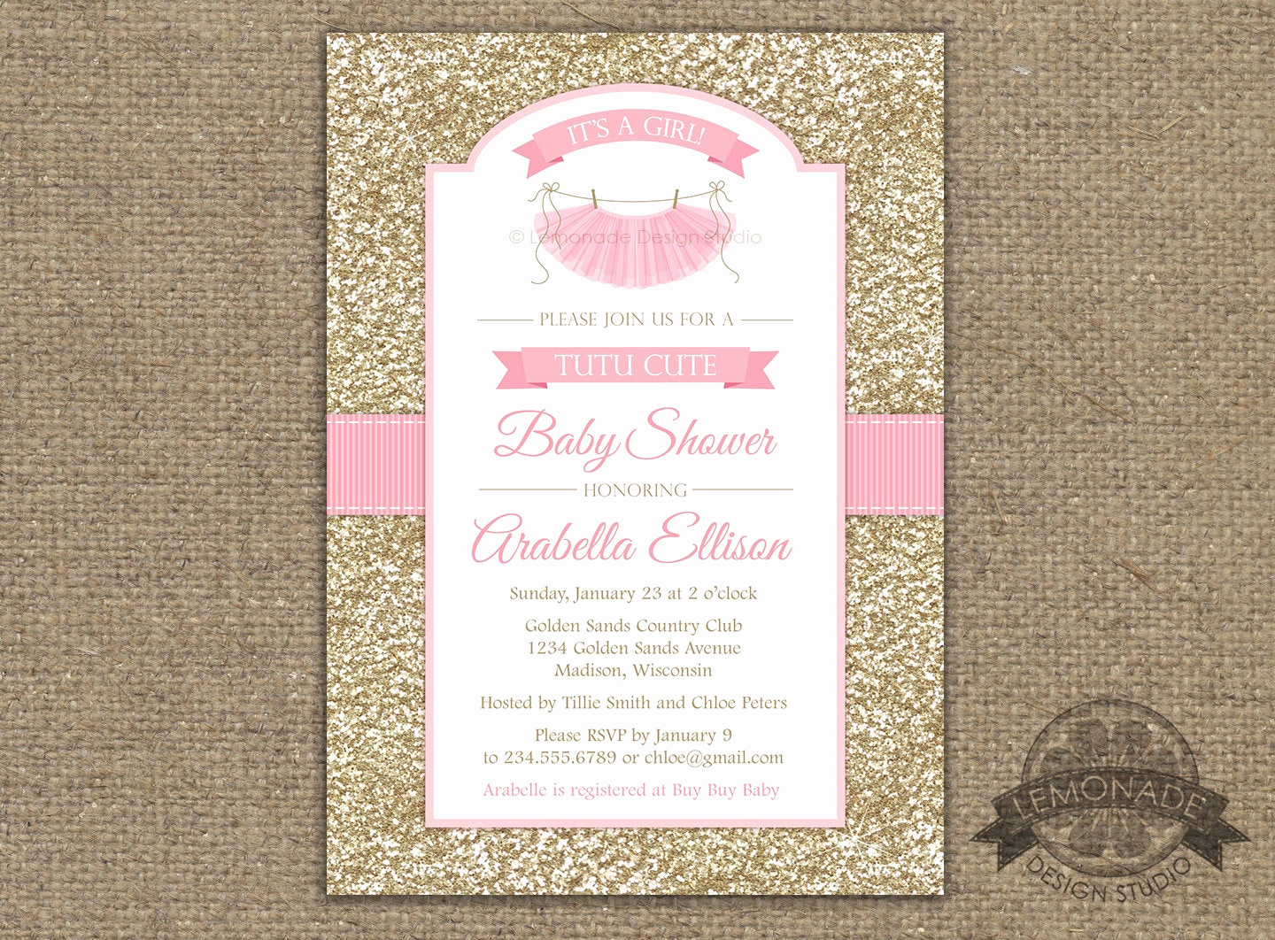 Tutu Baby Shower Invitation Fresh Tutu Cute Baby Shower Invitation Gold Pink Baby Shower