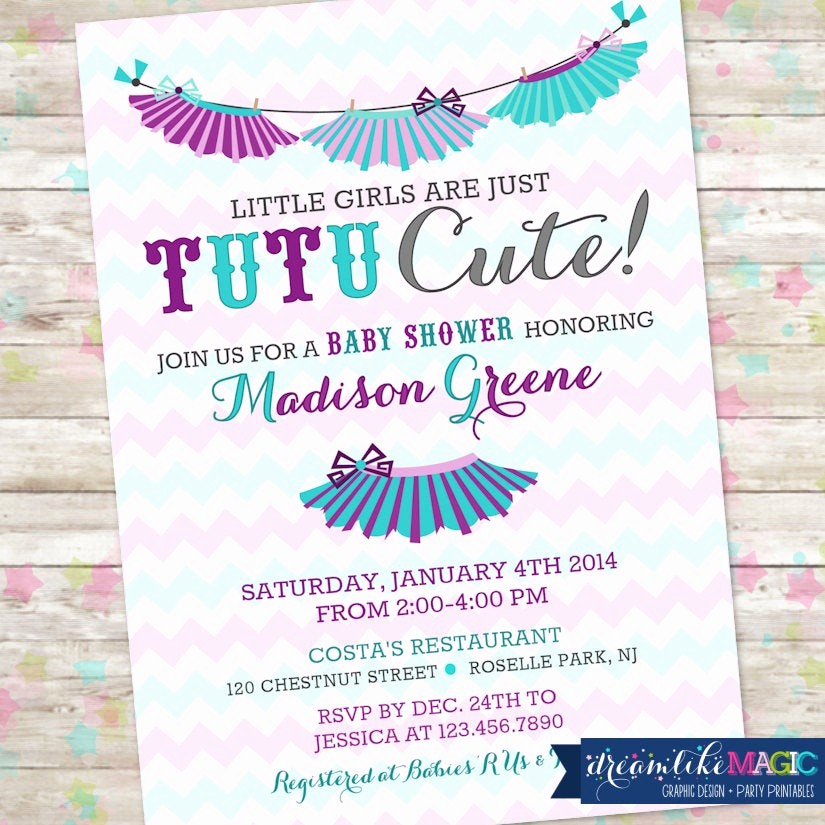 Tutu Baby Shower Invitation Inspirational Tutu Baby Shower Invitation Baby Girl Invite Tutu Cute Baby