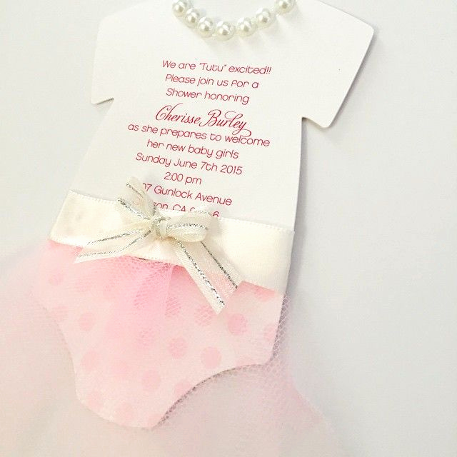 Tutu Baby Shower Invitation Lovely Best 25 Tutu Invitations Ideas On Pinterest