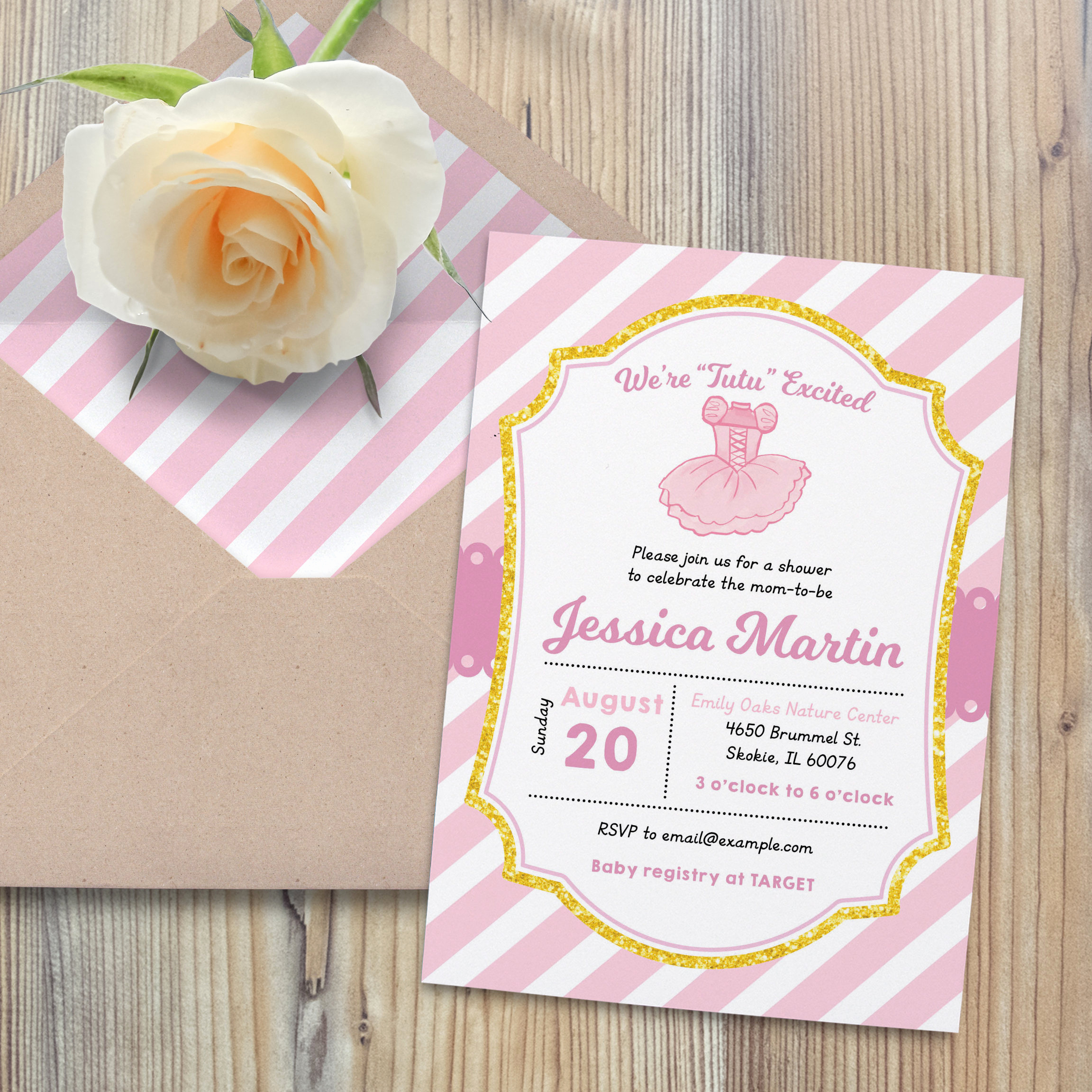 Tutu Baby Shower Invitation Lovely Tutu Baby Shower Invitation Ballerina Baby Shower Invite