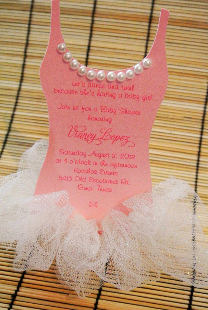 Tutu Baby Shower Invitation Unique Tutu Baby Shower Invitation Ballerina Baby Shower by Anaderoux