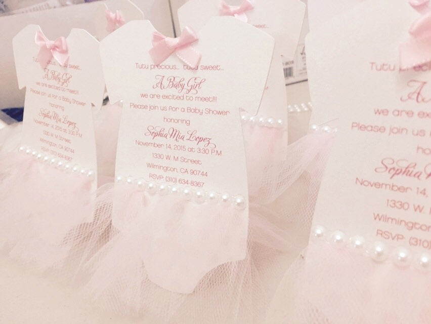 Tutu Baby Shower Invitation Wording Awesome Ballerina Baby Shower Invitation Tutu Invitation by Anaderoux