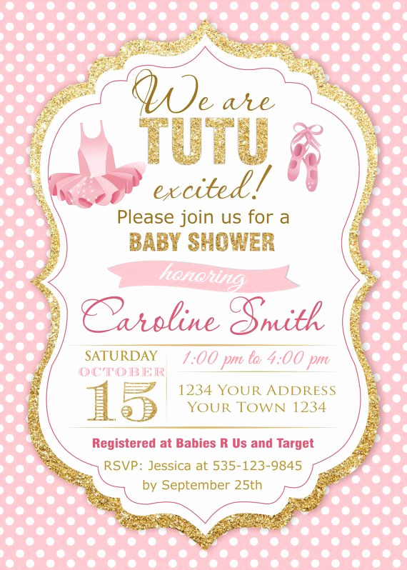 Tutu Baby Shower Invitation Wording Awesome Best 25 Tutu Invitations Ideas On Pinterest