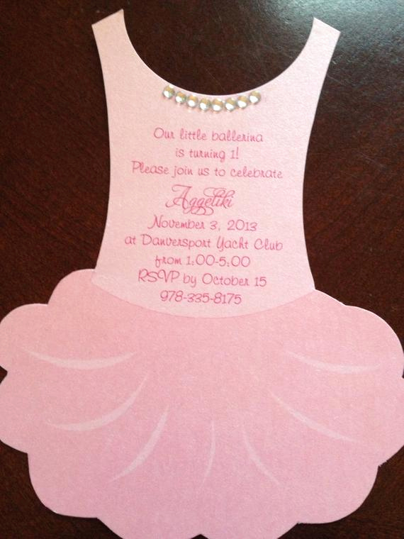 Tutu Baby Shower Invitation Wording Awesome Deposit for Flat Tutu Baby Shower Invitation by Anaderoux