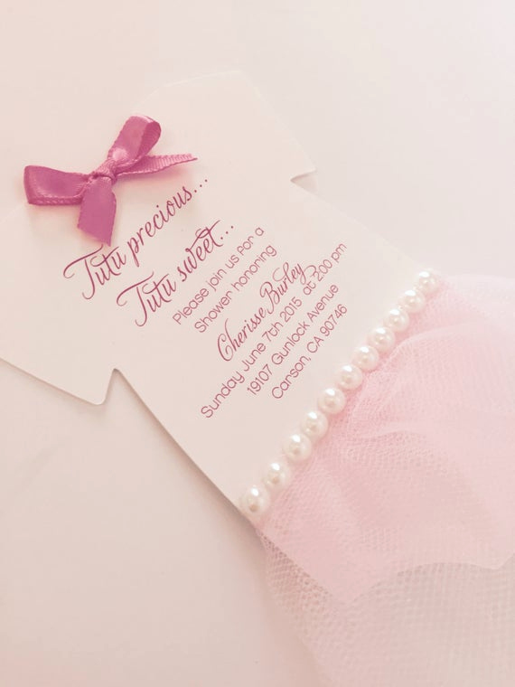 Tutu Baby Shower Invitation Wording Beautiful Baby Onesie Tutu Invitation Tutu Baby Shower by Anaderoux