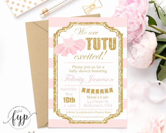 Tutu Baby Shower Invitation Wording Inspirational Tutu Baby Shower Invitations Girls Baby Shower Invitations