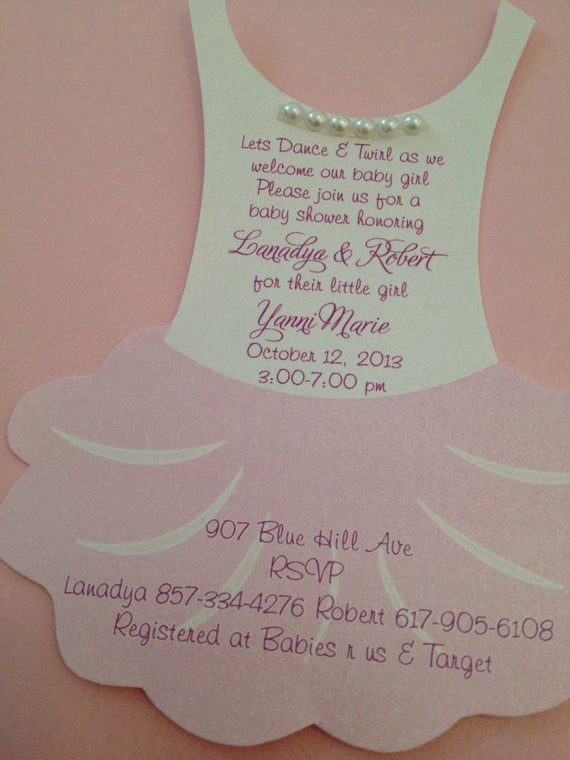 Tutu Baby Shower Invitation Wording Lovely Items Similar to Tutu Baby Shower Invitation Flat
