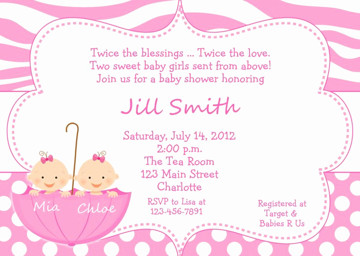 Twin Baby Shower Invitation Ideas Best Of 10 Best Images About Very Best Twin Baby Shower