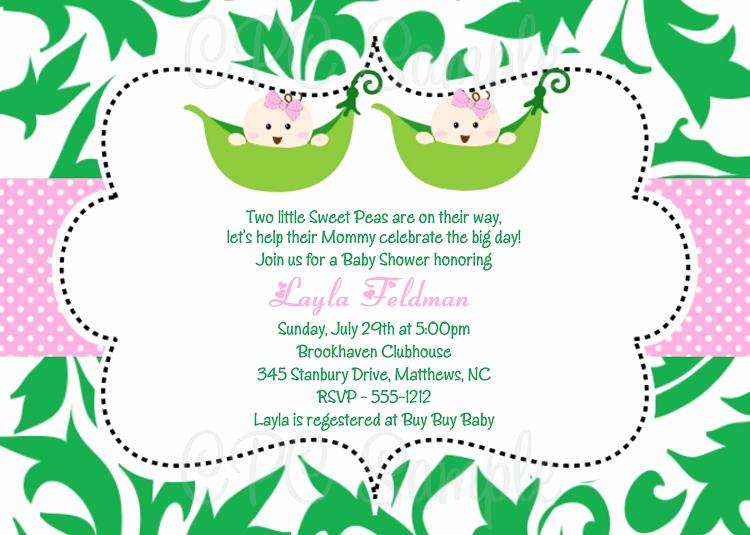 Twin Baby Shower Invitation Ideas Inspirational Baby Shower Invitation Ideas for Twins