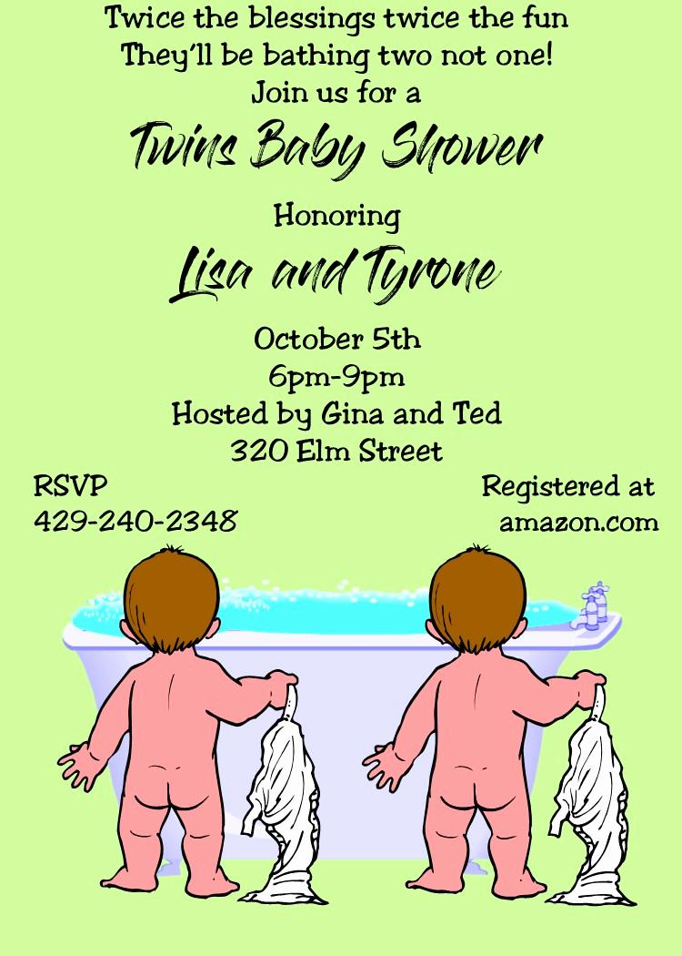 Twin Baby Shower Invitation Ideas Inspirational Twins Baby Shower Invitations and Triplets