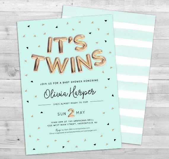 Twin Baby Shower Invitation Ideas Luxury 17 Best Ideas About Twin Baby Showers On Pinterest