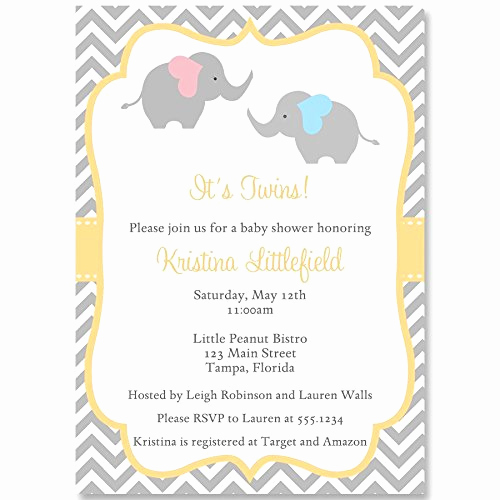Twin Baby Shower Invitation Wording Best Of Twin Baby Shower Invitations Amazon