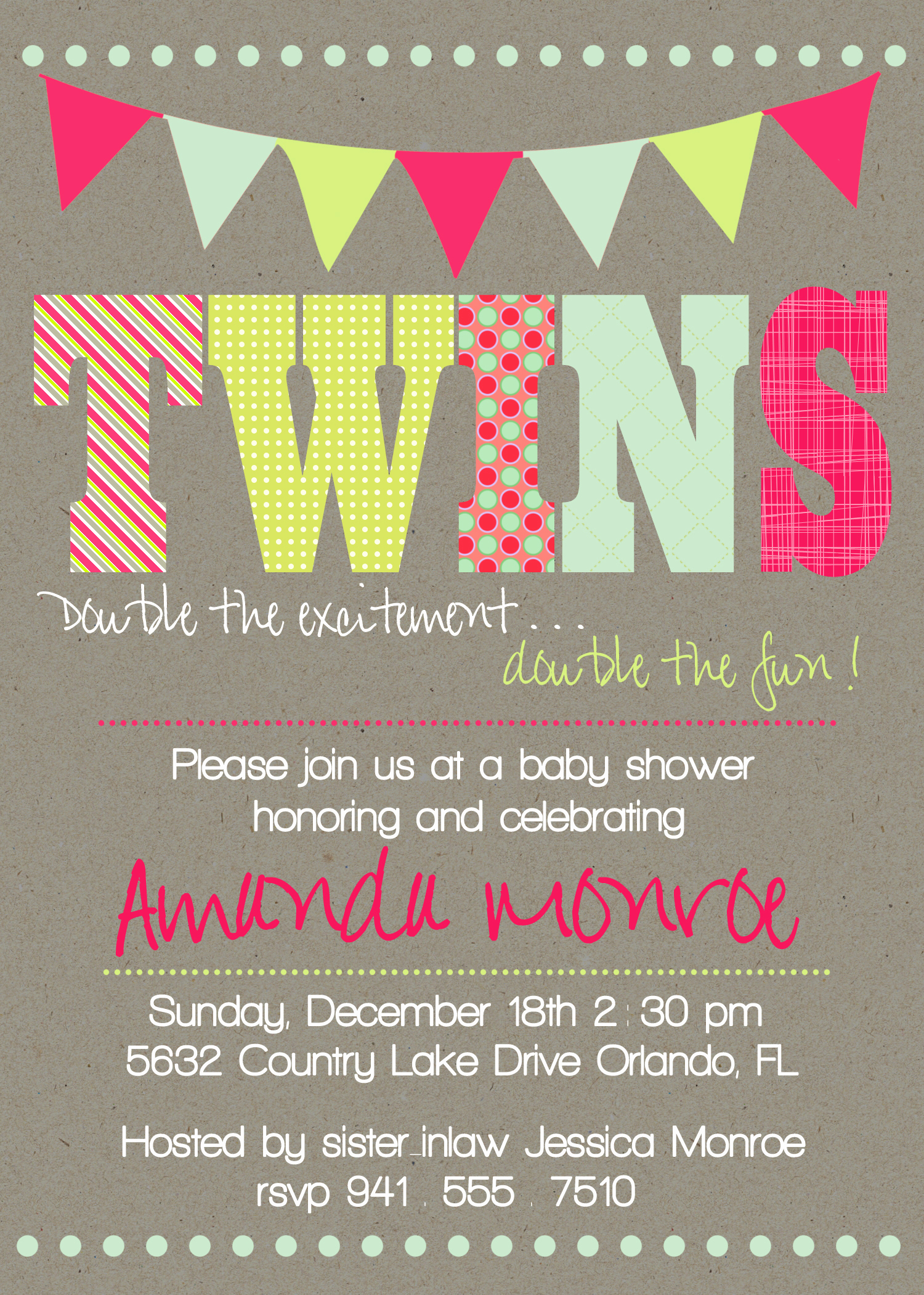 Twin Baby Shower Invitation Wording Elegant Tie Dye Birthday Party Invitations