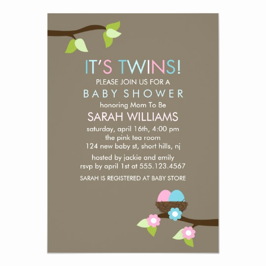 Twin Baby Shower Invitation Wording New Twin Baby Shower Invitations