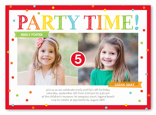 Twins Birthday Invitation Wording Awesome Bright Party Time Twins 1st Birthday Invitations