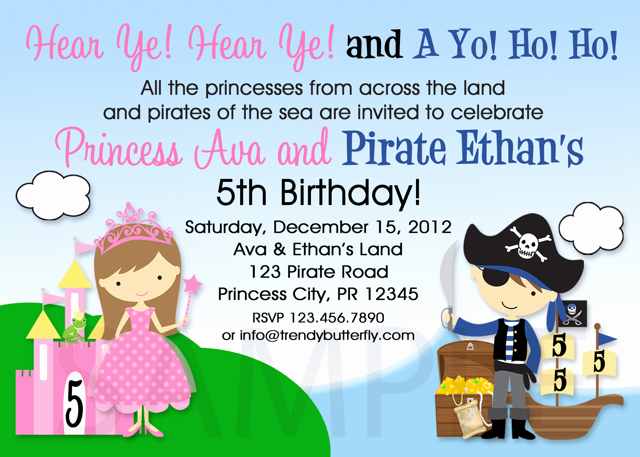 Twins Birthday Invitation Wording Awesome Printable Birthday Invitations Twins Siblings Pirate