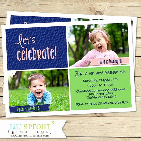 Twins Birthday Invitation Wording Best Of 1000 Ideas About Sibling Birthday Parties On Pinterest