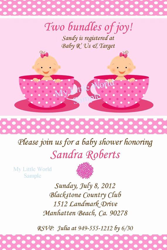 Twins Birthday Invitation Wording Elegant Twins Baby Shower Invitations Wording
