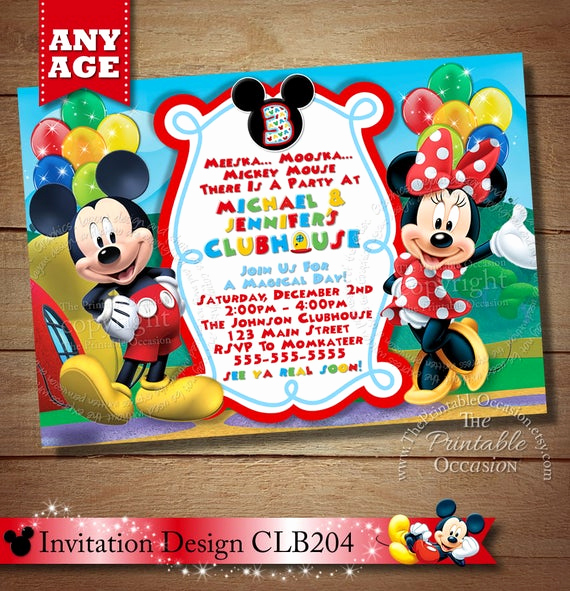Twins Birthday Invitation Wording Inspirational Twin Invite Mickey Minnie Twins Birthday Invitation Twins