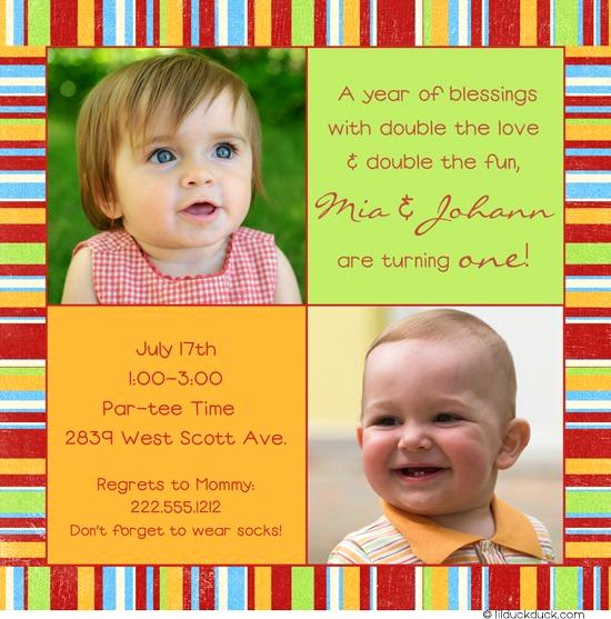 Twins Birthday Invitation Wording New 12 Twin Birthday Invitations Templates – Free Sample