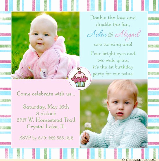Twins Birthday Invitation Wording New 48 Best Images About Cute Twin Birthday Invitations On