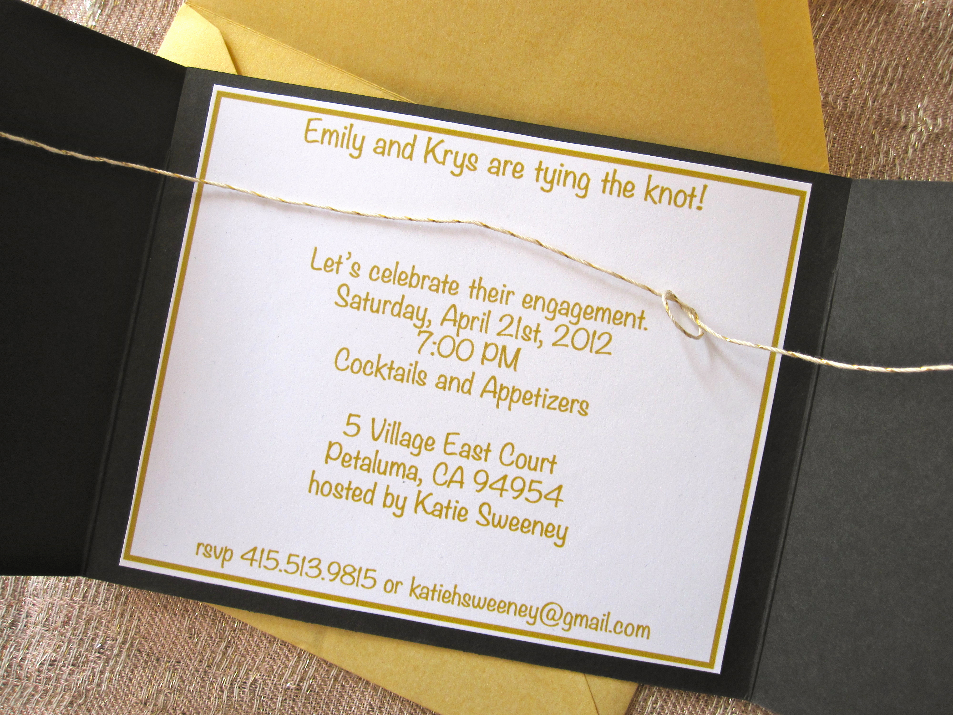 Tying the Knot Invitation Awesome How to Make Tying the Knot Engagement Party Invites