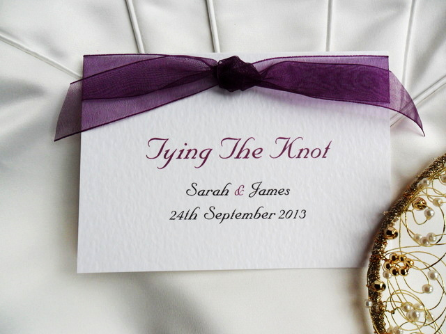 Tying the Knot Invitation Best Of Tying the Knot Wedding Invitations £1 25 Each