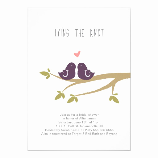 Tying the Knot Invitation Fresh Tying the Knot Bridal Shower Invitation