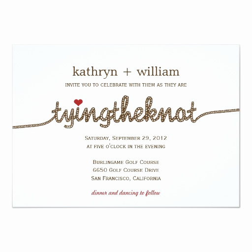 Tying the Knot Invitation Fresh Tying the Knot Modern Wedding Invitation
