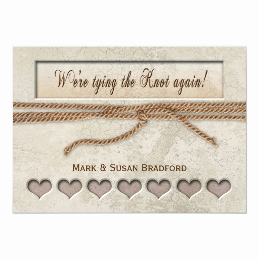 Tying the Knot Invitation Inspirational Renewing Vows Invitation Tying the Knot
