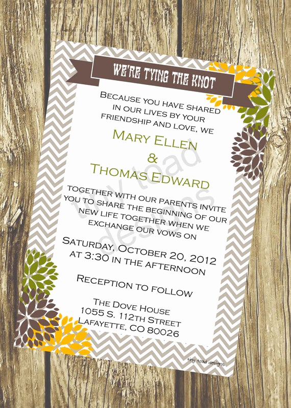Tying the Knot Invitation Luxury Vintage We Re Tying the Knot Wedding Invitation Diy