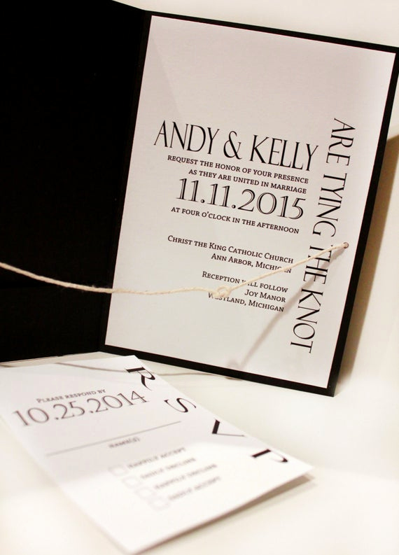 Tying the Knot Invitation New Modern Tying the Knot Wedding Invitation Tying the Knot