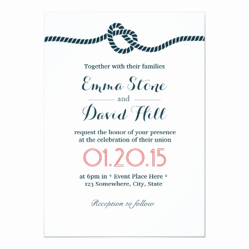 Tying the Knot Wedding Invitation Best Of Classy Tying the Knot Wedding Invitations