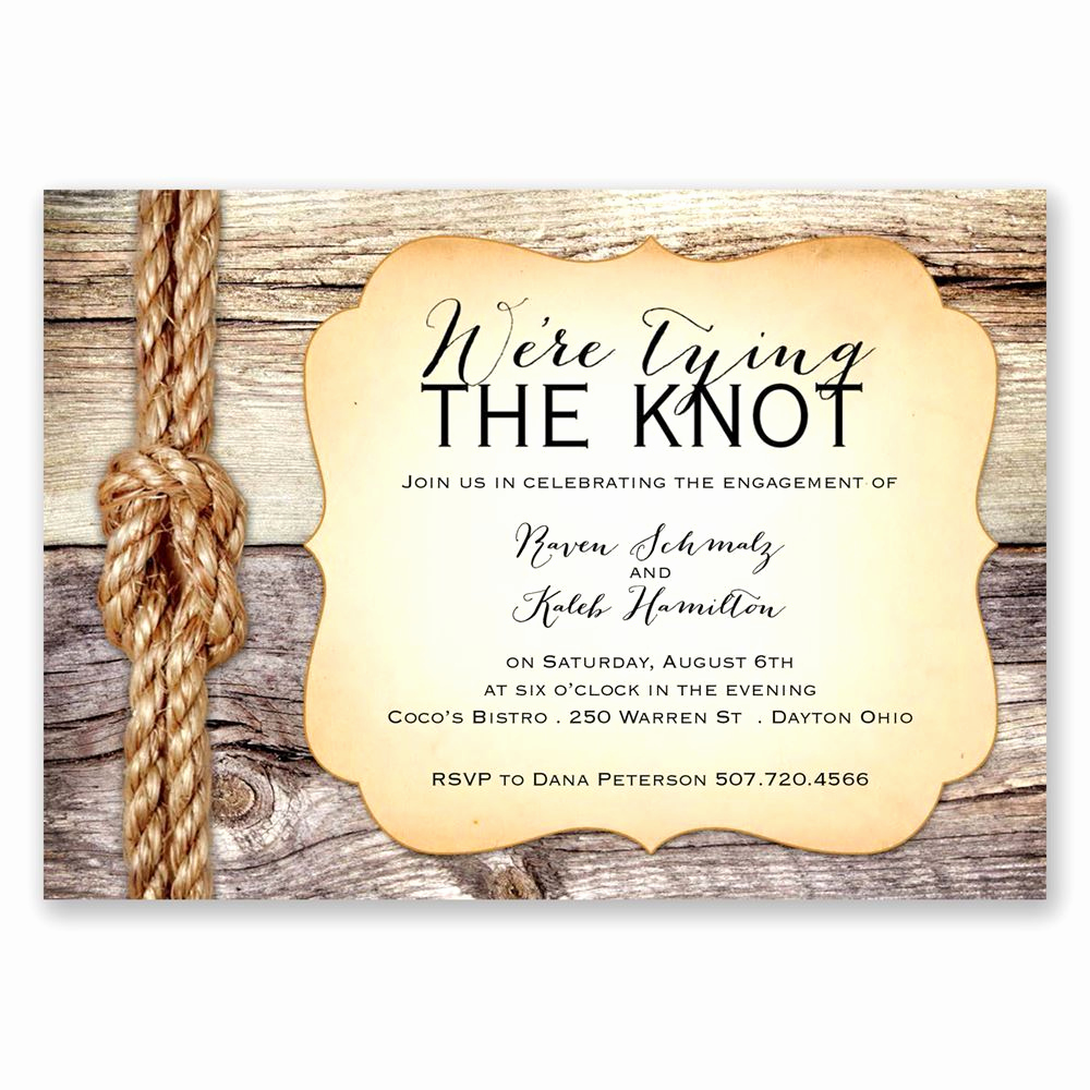 Tying the Knot Wedding Invitation Fresh Tying the Knot Engagement Party Invitation