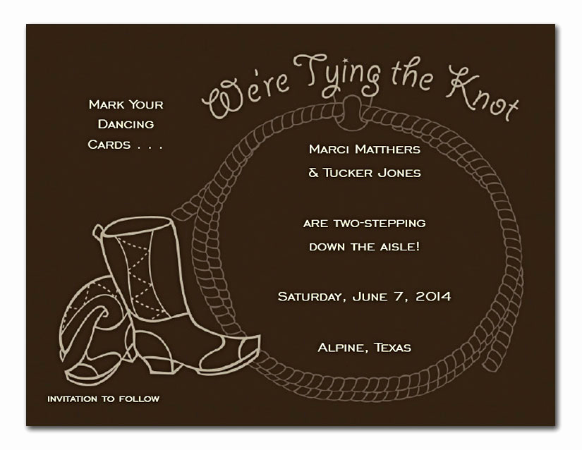 Tying the Knot Wedding Invitation Lovely Tie the Knot Wedding Invitations by Invitation