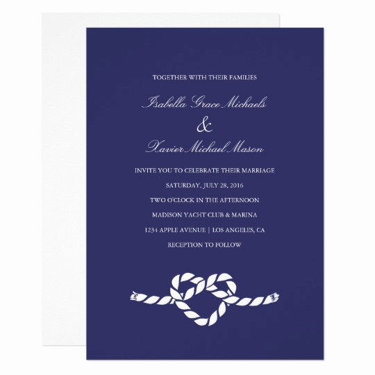 Tying the Knot Wedding Invitation Lovely Tying the Knot Wedding Invitation