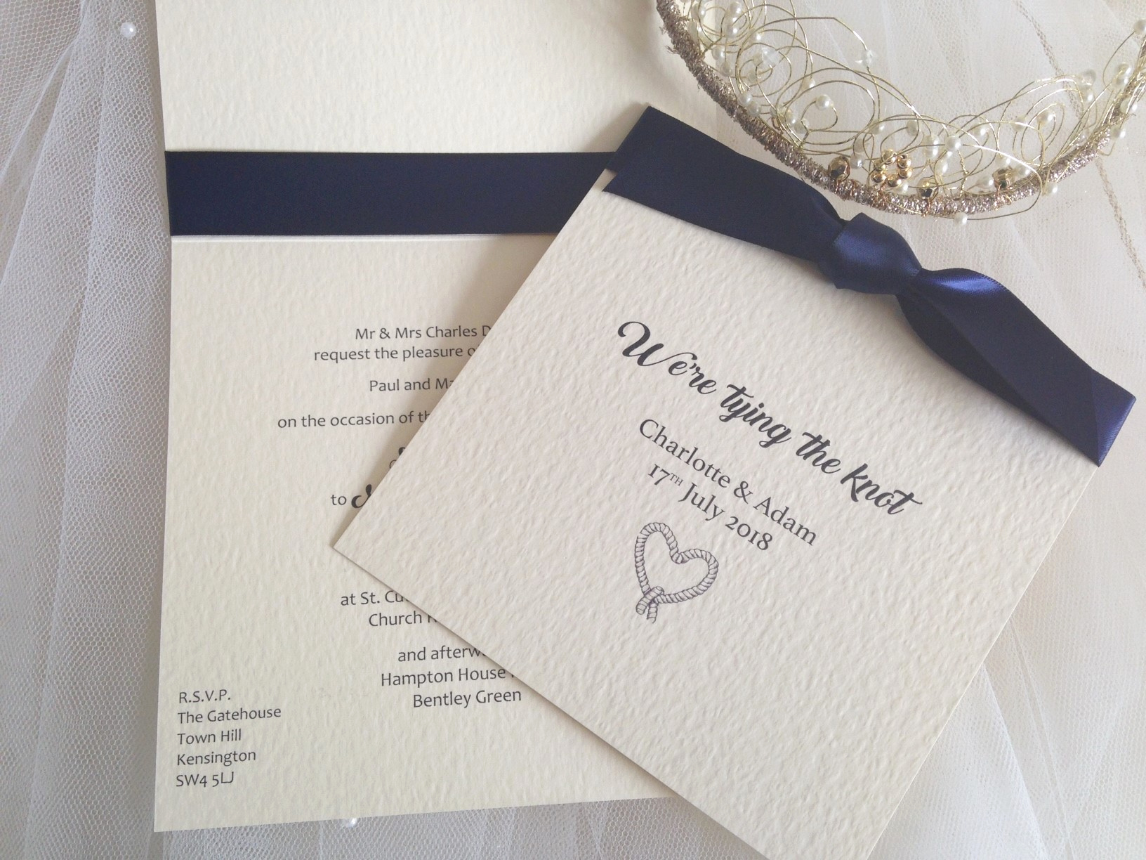 Tying the Knot Wedding Invitation Luxury Tying the Knot Wedding Invitations