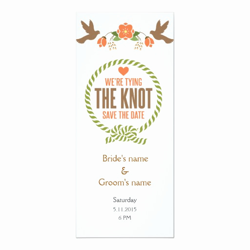Tying the Knot Wedding Invitation New Tying the Knot Floral Bir Wedding Invitation