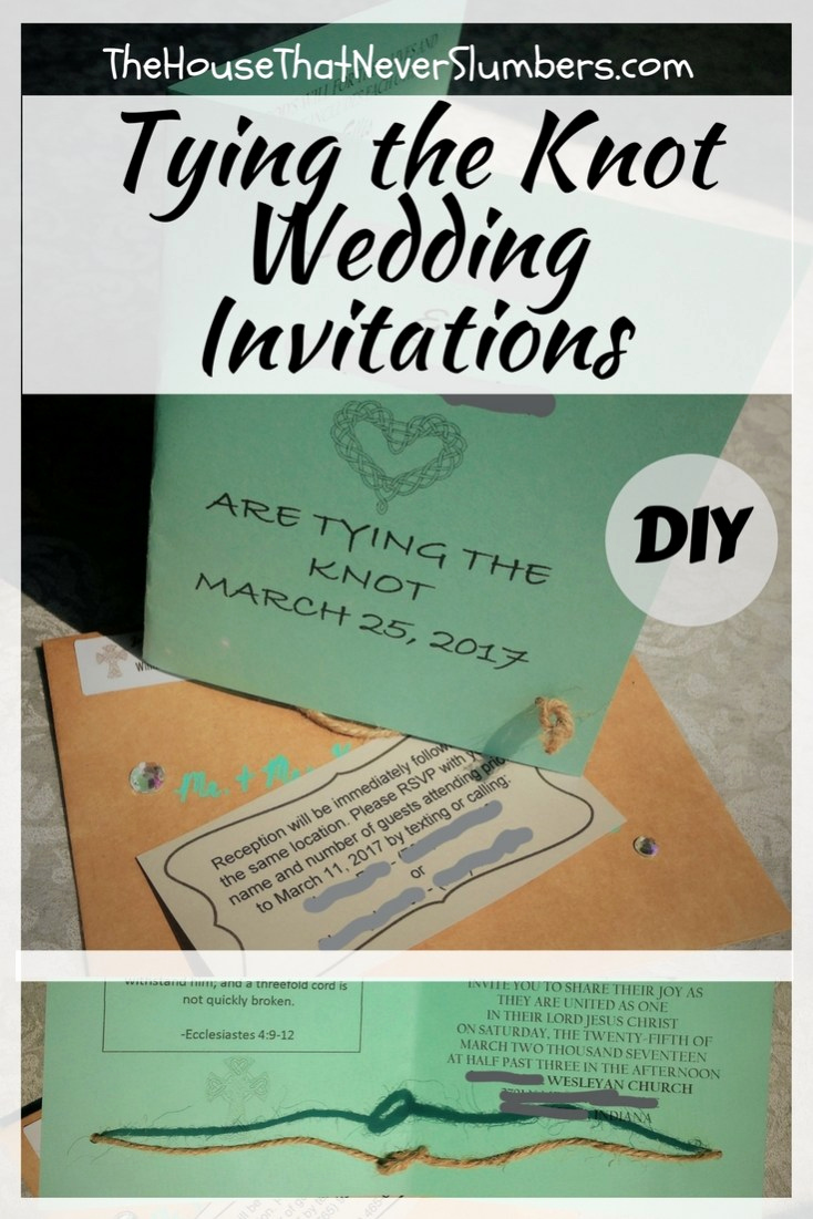 Tying the Knot Wedding Invitation Unique Tying the Knot Wedding Invitations Diy