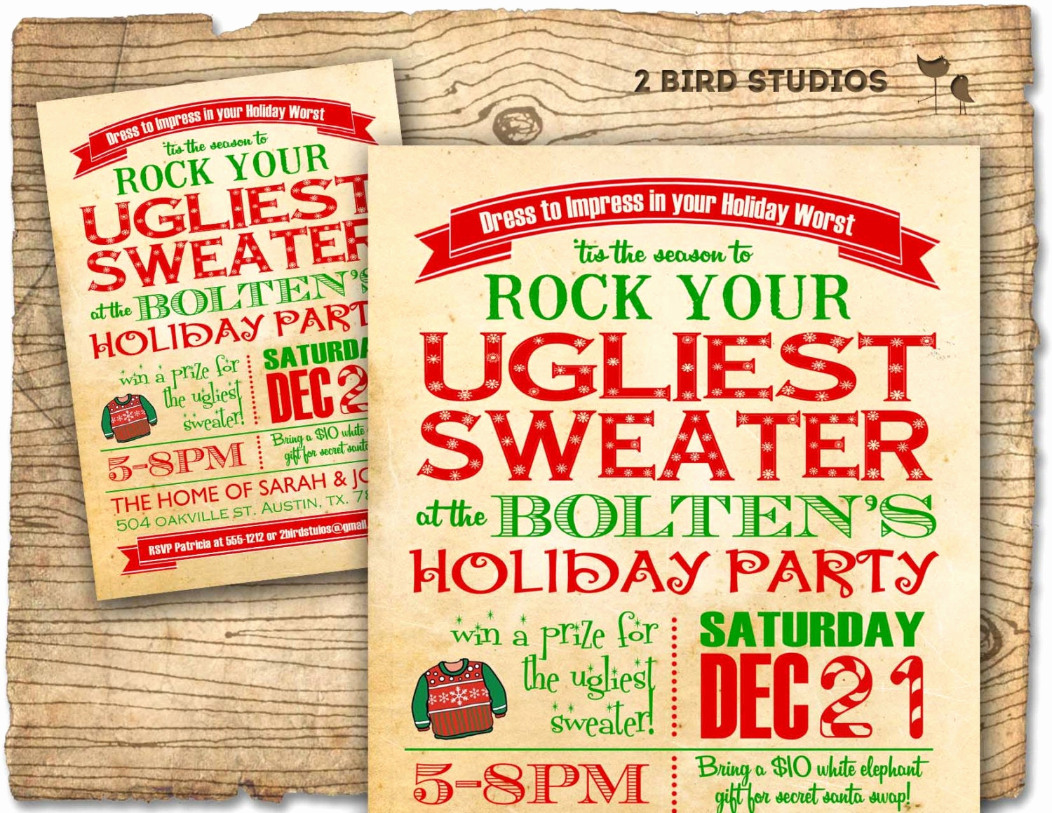 Ugly Christmas Party Invitation Awesome Holiday Party Invitation Ugly Sweater Christmas Party