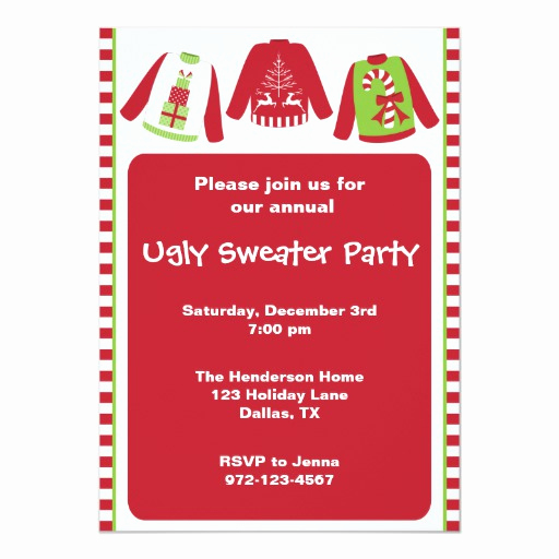 Ugly Christmas Party Invitation Lovely Ugly Christmas Sweater Party Invitations