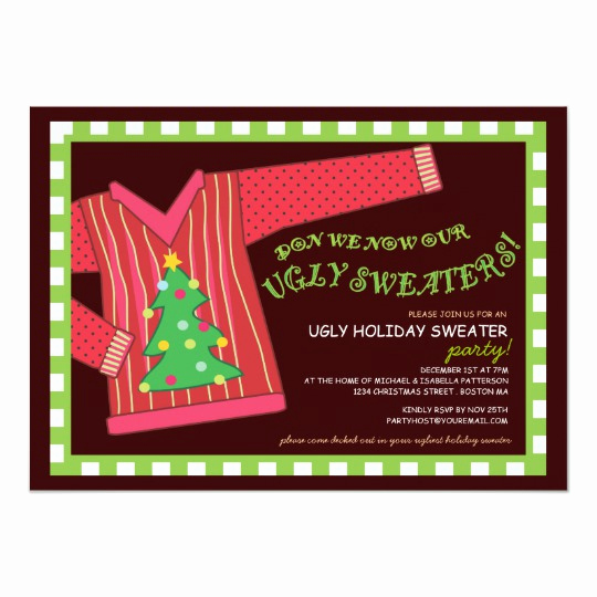 Ugly Christmas Party Invitation Luxury Ugly Christmas Sweater Party Invitation