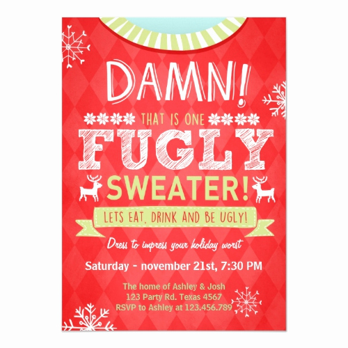 Ugly Christmas Party Invitation New Ugly Christmas Sweater Party Ideas & Invitations