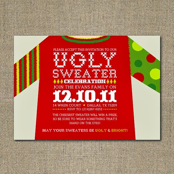 Ugly Christmas Sweater Invitation Elegant Crafty Texas Girls Party Planning Tacky Christmas Sweater